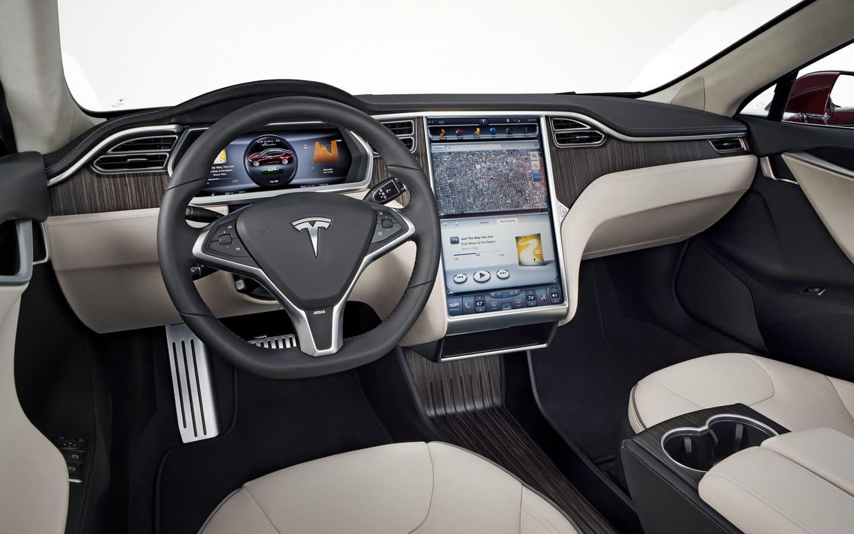 2012 Tesla Model S interior1 Tesla Model S   tidenes vakreste Elbil