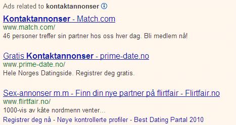 kontaktannonser no Hommersåk