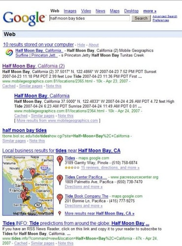 google serp photo